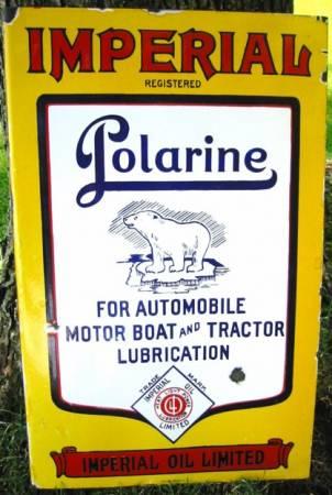 Imperial Oil Ltd. Polarine 15x24 in. flange sign.JPG