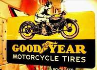 Porcelain Goodyear Motorcycle Tires Flange