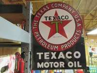 Texaco DS Flange Sign