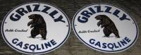 Grizzly Gasoline Porcelain Pump Plates