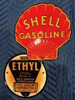RARE! Shell Ethyl Gasoline (8-ball) Pump Plate