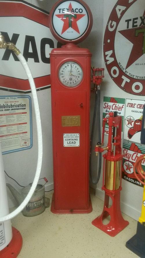 Gilbert Barker Clock face pump - Primarily Petroliana Shop Talk