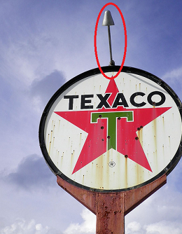 Correct style lights for Texaco Banjo Sign pole - Primarily