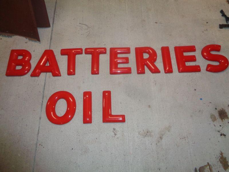 1950s Shell Station Plastic letters - Primarily Petroliana Shop Talk