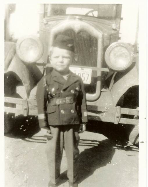 Attached picture Frank early 1940's  Dad's 27 Buick.jpg