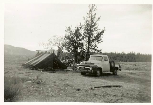Attached picture Elk hunt  Table mountain WY 1957.jpg