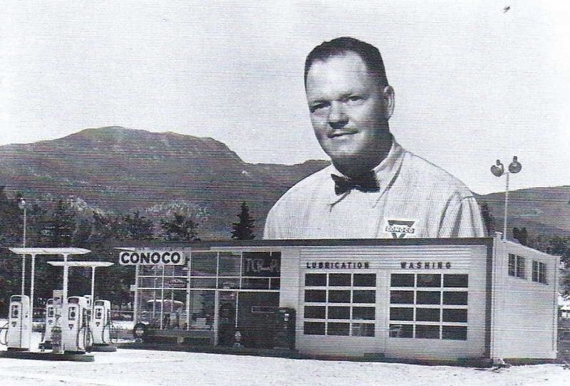 Cedar City, UT  (Page's Conoco  Frank Page Knell) in 1955  <M&S 80>  [Ancestry.com].jpg