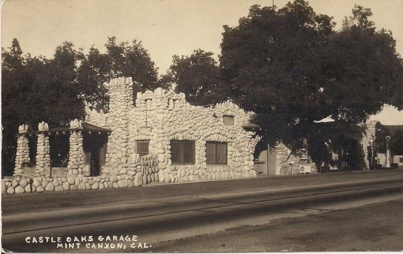 Attached picture CASTLE OAKS GARAGE, MINT CANYON, CAL.JPG