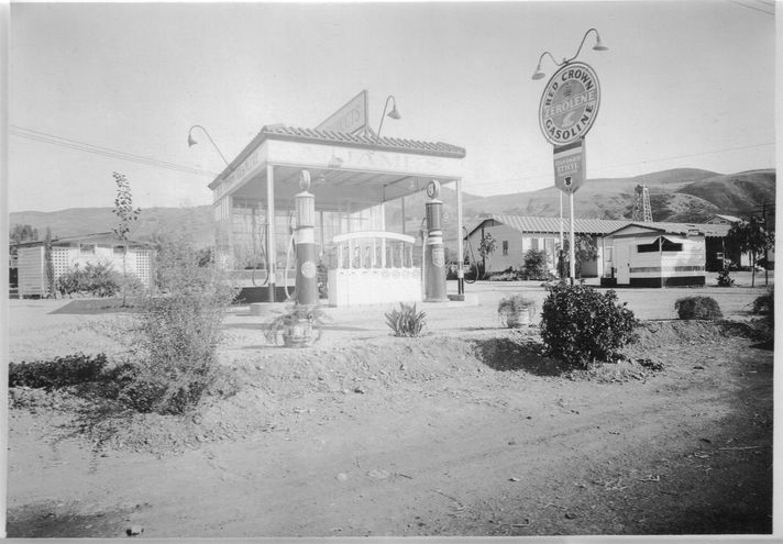 Attached picture Red Crown Gasoline Gas Stationa.jpg