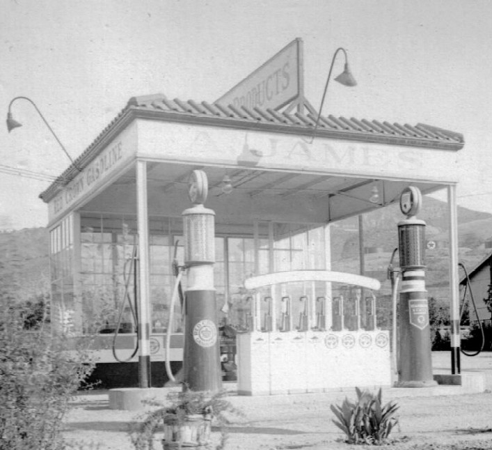 Attached picture Red Crown Gasoline Gas Station1a.jpg