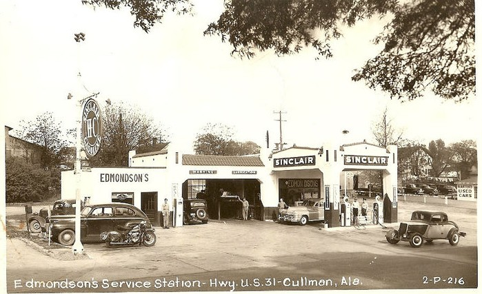 Attached picture Edmondson's Service Station, Cullman, Alabama.JPG