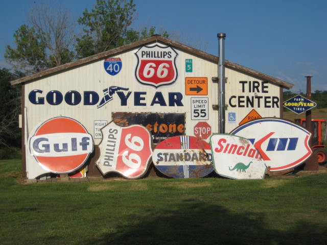 Gas Station Pole Signs with & Without poles - Primarily Petroliana