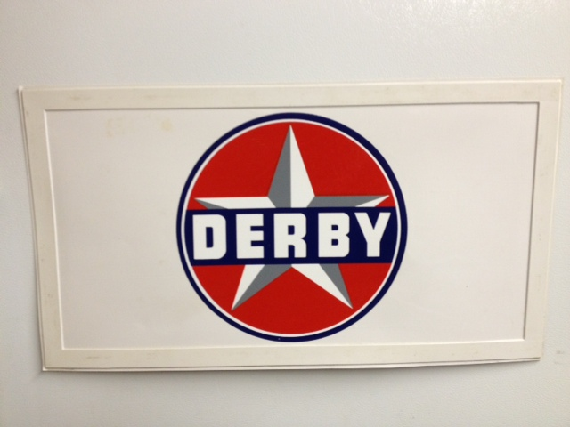 Derby car door magnet used in parades.JPG