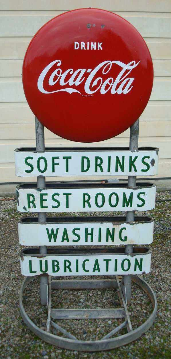 Coca-Cola button sign help? - Primarily Petroliana Shop Talk