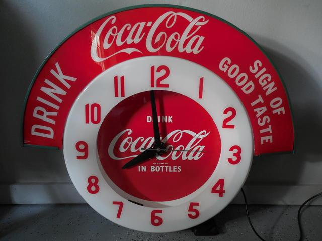 Neon Coca Cola clock part needed - Primarily Petroliana Shop Talk