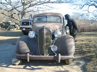 1936 Chevy 4 door Master deluxe sedan - Primarily Petroliana