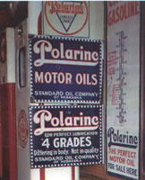 Polarine Oil signs