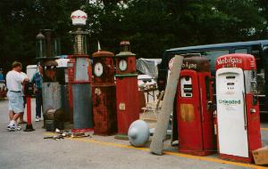 Gas Pumps at Iowa Gas swap meet