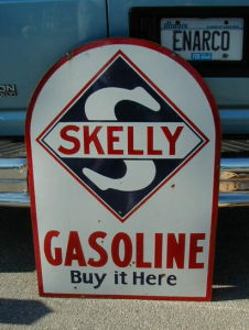 Skelly Gasoline sign