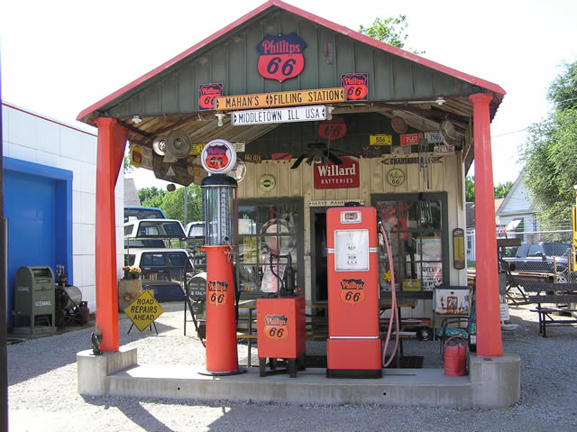 Shea S Gas Station Route 66 Museum In Springfield Illinois