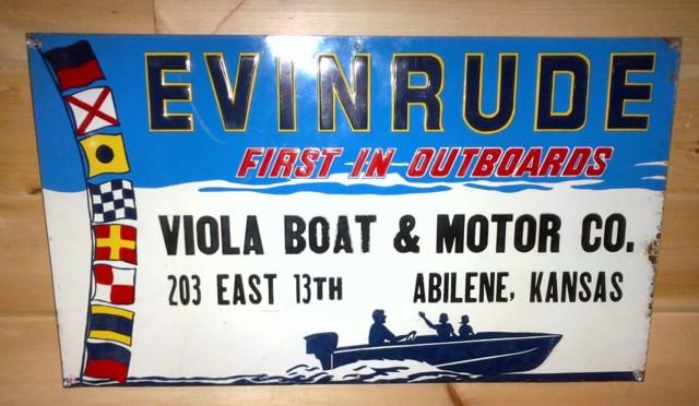 """EVINRUDE ELTO CUB 9/"""" x 12/"""" Sign"""
