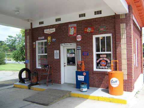 Near Gas Station >> Gulf Gas Station Restored in Tazewell, Tennessee